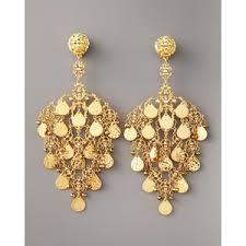 gold chandelier earrings jose barrera gold filigree chandelier earrings polyvore