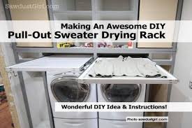 sweater drying rack an awesome diy pull out sweater drying rack