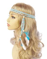 hippie hair accessories items similar to turquoise hippie boho braided feather