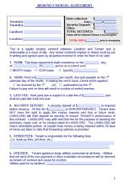 free maine monthly rental agreement form u2013 pdf template
