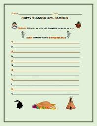 happy thanksgiving acrostic activity by house of the three dinosaurs