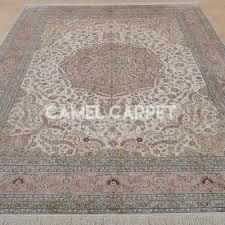 Pink Oriental Rug Handmade Pure Silk Large Pink Oriental Rug Camel Carpet