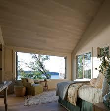 bedroom window ideas transitional with baseboards black platform beds