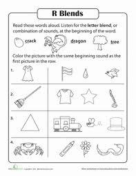 consonant sounds r blends worksheets phonics and consonant blends