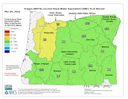 Map Of Eastern Oregon by Oregon Snowpack Holding Steady At Near Or Above Normal Despite