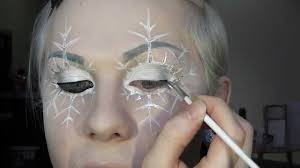 snowflake fairy or ice queen makeup tutorial youtube