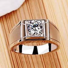 men rings prices images Threeman test as real solid 585 gold ring 1 ct solitaire jpg