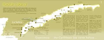 map of roatan honduras la selva roatan where s roatan