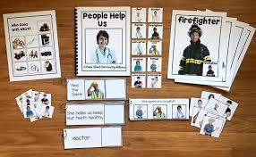 community helpers unit w real photos 6 00 file folder games