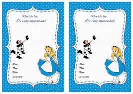 alice in wonderland birthday invitations cimvitation