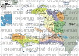 Haiti Map Geoatlas Countries Haiti Map City Illustrator Fully