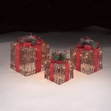 roebuck u0026 co grapevine gift boxes set of 3 outdoor christmas decor
