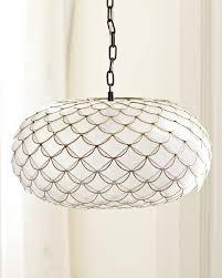 awesome capiz pendant light for home decorating plan lighting