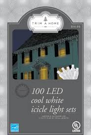 cool white icicle lights trim a home white led icicle lights kmart