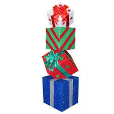 outdoor lighted gift boxes lawn decoration outdoor