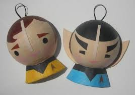 crafty kirk and logical spock tree ornaments fanboy