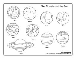 free printable planet coloring pages jos gandos solar system