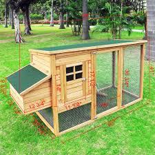 Backyard Chicken Tractor by Backyard Wooden Chicken Coop Nesting Box Hen House Pen Rabbit Run