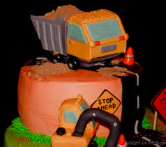 construction themed cake baked in heaven