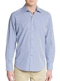 robert graham classic print ocean dome sportshirt in blue for men