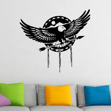 eagle holding arrow wall sticker world of wall stickers eagle holding arrow wall sticker decal a