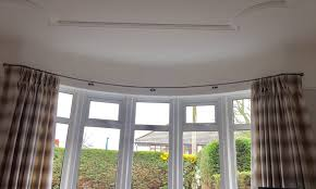 Bay Window Pole Suitable For Eyelet Curtains Wrought Iron Bay Window Curtain Poles By S P Harrison