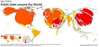 Maps Around The World by 54 Trillion Debt Views Of The World