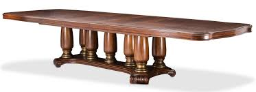 michael amini dining table michael amini grand masterpiece pedestal extendable dining table