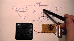 How To Make A Solar Light - minimal solar night light circuit youtube