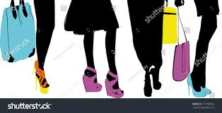 Matching Colors Vector Illustration Female Legs Wearing Elegant Stock Vector