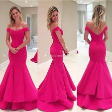 hot pink dress 2017 hot pink prom dresses mermaid new style modest the