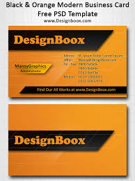 black and orange modern business card template by mansydesigntools