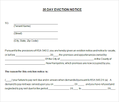 30 day notice to vacate template real estate forms