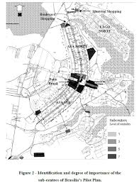 map of brasilia analysis of trip generating developments by space syntax a
