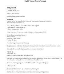 Sample Format Of Resume For Teachers 51 Teacher Resume Templates Free Sample Example Format English
