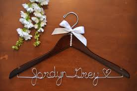 one line personalized hanger with rhinestones twisted hangers
