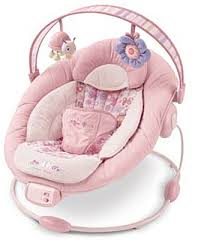 Babies R Us Vibrating Chair Bouncer Shown In Sweet Splendor Features A Removable Toy Bar And