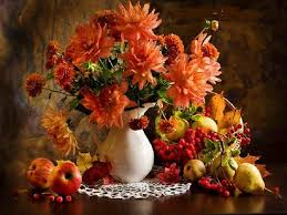 miscellaneous table flowers decor autumn home fall colors