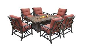 Patio Furniture Set With Fire Pit Table - outdoor patio furniture set with a fire pit 8 designs outdoor