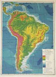 south america map atlas physical map of south america