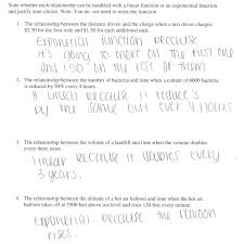 Linear Sequences Worksheet Linear Or Exponential Students Are Given Four Verbal Descriptions