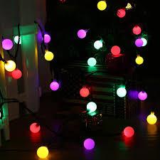 solar globe 50 led ball string lights solar powered christmas