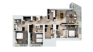 One Bedroom Apartment Plans by Three Bedroom Apartment Floor Plan With Concept Gallery 70456
