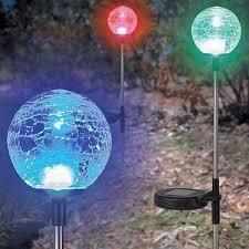 solar globe lights garden best led solar lights for gardens decks walkways