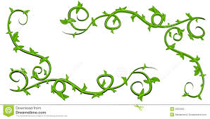 pumpkin leaves and vines clipart