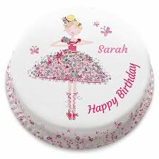 ballerina birthday cake ballerina birthday cake personalise with your own message from