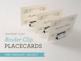 diy wedding place cards diy binder clip wedding place cards