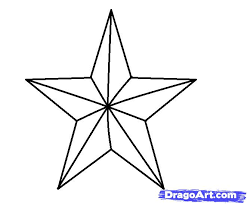 how to draw a 3d star step by step symbols pop culture free