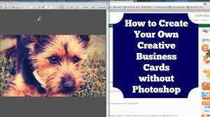 Design A Business Card Free How To Create A Business Card Without Photoshop Diy Youtube