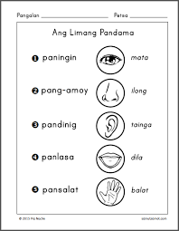 filipino worksheets samut samot